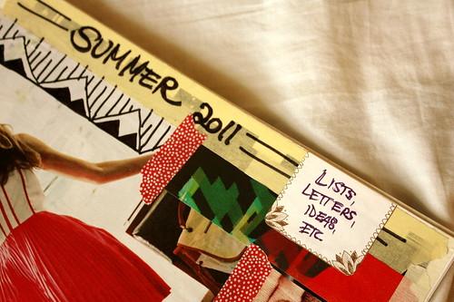 summer notebook detail.