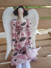 Tilda Vintage Angel (GarotaECO Atelie) Tags: doll rosa boneca tilda morena vintageangel