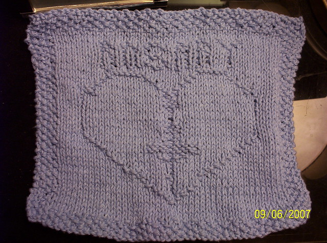 Free Knitted Dishcloth Patterns Snowman : Anything Knitted and Crocheted: My Free Patterns-Picture Dishcloths