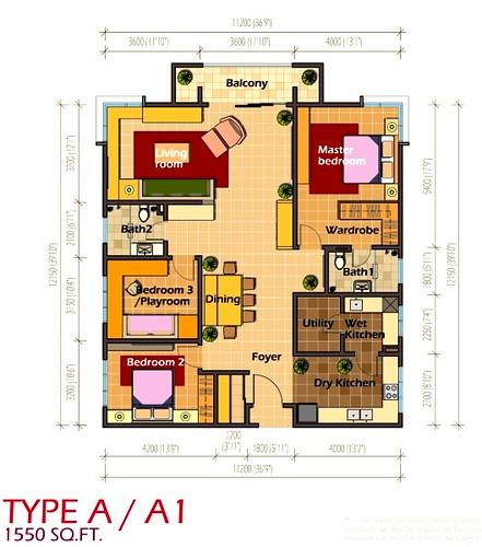 contoh layout plan untuk platinum hill pv8 ada kat bawah neh eh