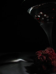 Lucktini with Rose #3 (K. A. Lewis) Tags: life stilllife dice rose still martini lucky7 assignment2 remotecapture canons2is wiltedrose art314 lucktini