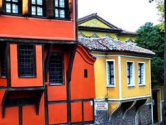 """Gossiprooms"" in old Plovdiv (Emilofero) Tags: orange house yellow europe bulgaria balkans plovdiv balkan balcans balcan mywinners platinumphoto flickrelite"