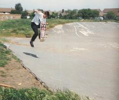 Gunney 19th July 1988 (luns_spluctrum) Tags: film skateboarding skateboard instamatic canveyisland gunney 19thjune1988