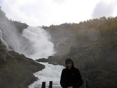 darren and a waterfall (esio trot) Tags: darren norway september flam