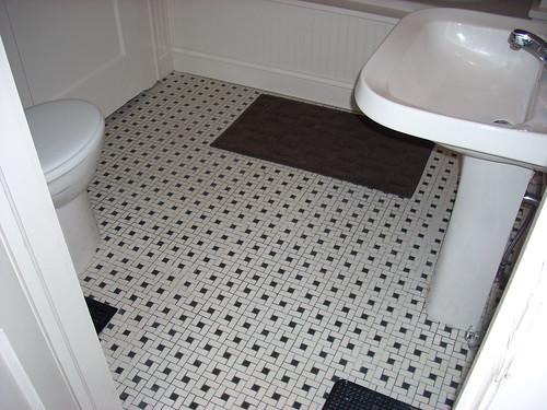 OHW View Topic Restoring Old Floor Tile - 1940s bathroom floor tile