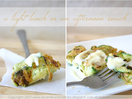 Lemon and Zucchini Puffs