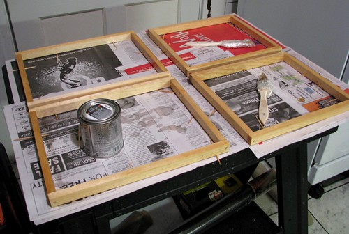 wood frames for paper making