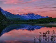 Blueberry Evening (Matt Champlin) Tags: sunset lake mountains reflection nature water alaska bravo glow blueberry alpine alpen valdez hdr eternal richardson naturesfinest richardsonhighway magicdonkey mywinners superbmasterpiece diamondclassphotographer