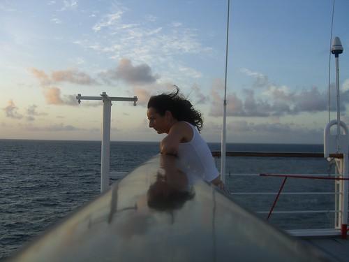 Looking overboard