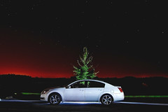 Night Maxima (Josh Segal) Tags: white 2004 night stars florida flashlight fl maxima pasco cs3 6speed d40