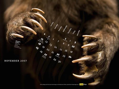 FontShop Calendar - November 2007