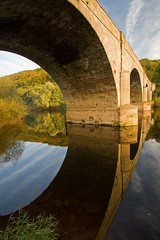 Loop (flash of light) Tags: bridge autumn england river landscape geotagged october valley herefordshire lower soe wye kerne supershot platinumphoto diamondclassphotographer geo:lat=5187015 geo:lon=2610661