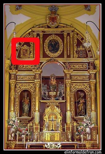 Iglesia del Pueblo, Melilla, escudo 2ª Rep.