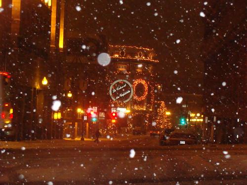 Snowy Quebec city