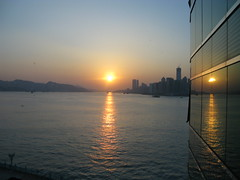 Sunrise from the Hotel (austenbrown) Tags: hongkong victoriaharbor