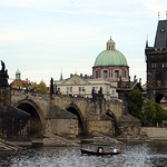 Prague: Vltava River and St. Charles Bridge