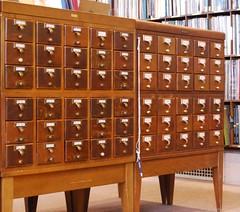 Detroit Public Library, card catalog (Tiz_herself) Tags: art architecture nikon michigan libraries detroit cardcatalogs detroitpubliclibrary d40x