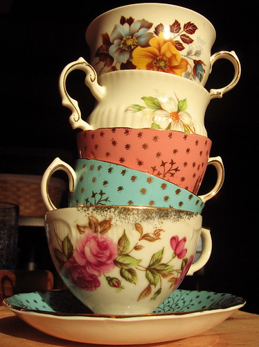 tower of tea cups by bohemiangirl.
