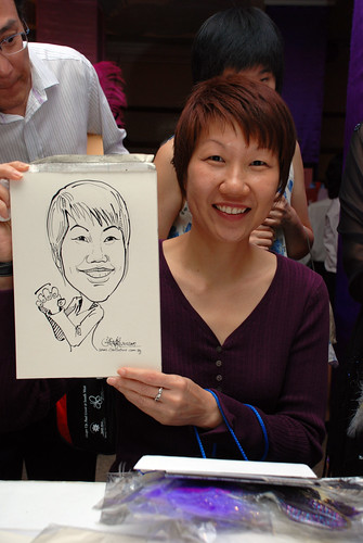 Caricature Singapore Swimming Club NYE 7
