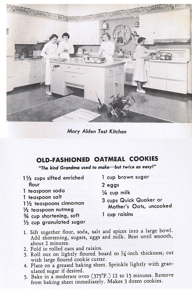 Mary Alden Test Kitchen with Old Fashioned Oatmeal Cookies recipe