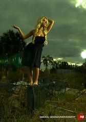 Summer Fox (shatterkiss) Tags: portrait abandoned beauty model florida blonde everglades wreck ftlauderdale summerfox