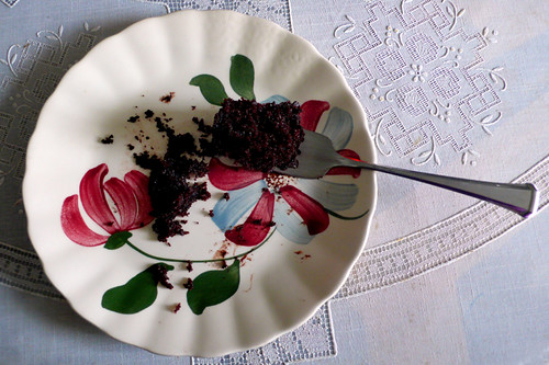 a really good chocolate cake.