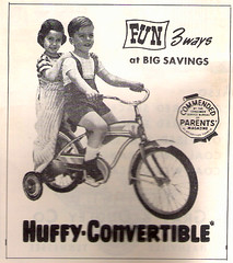 Huffy ad 1964 (Howard33) Tags: bicycle parents convertible trainingwheels huffy coasterbrake horntank