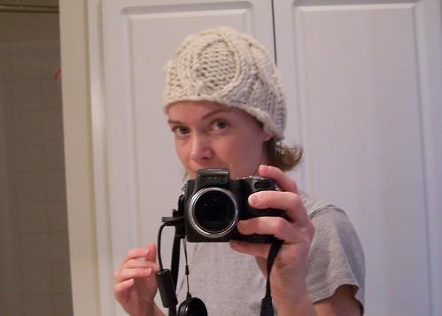 an unoriginal 1 skein hat