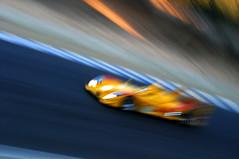 Porsche RS Spyder (erdero) Tags: auto blue car yellow automobile spyder porsche rs lemans lagunaseca alms americanlemansseries americanlemans porschersspyder