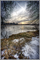 Frozen ground (Kaj Bjurman) Tags: trees winter sea sky ice clouds eos sweden stockholm sverige 2008 hdr kaj cs3 photomatix 40d bjurman