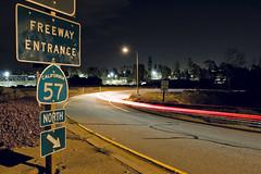 Yorba Linda Blvd - 57 freeway north (JsonStone) Tags: california ca street longexposure motion cars night canon rebel lights moving lowlight entrance onramp explore freeway lighttrails movinglights streaks scape streetscape 57 yorbalinda movinglight xti 400d rebelxti canonrebelxti canon400d canonxti
