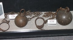 balls and chains (haven't the slightest) Tags: ontario canada history riot bars escape lock military guard cell kingston prison crime weapon jail torture shackles punishment cuffs capitalpunishment prisoner inmate rmc jailhouse penitentiary confinement royalmilitarycollege federalprison prisoncell prisonguard