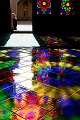 A world of colors beneath your feet (Maryam.z) Tags: windows color reflection architecture iran persia mosque shiraz    fars   shabestan nasiralmolk 2oninterestingness 8oninterestingness20080330