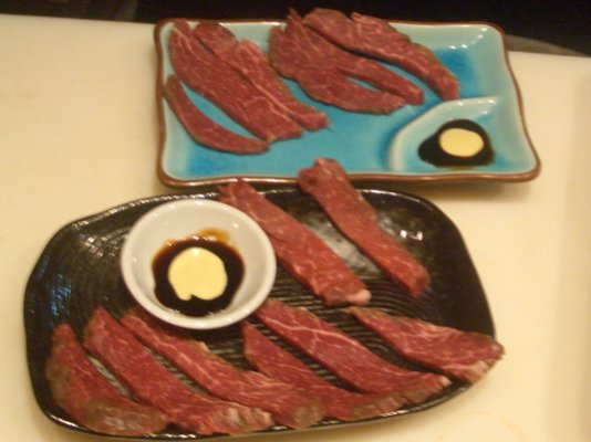 Scotch fillet sashimi