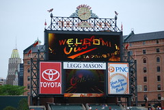 New Scoreboard (Praying for Lions) Tags: boston baseball may redsox baltimore os fatherandson 2008 orioles rivals camdenyards 200mm americanleague oriolepark daygame takemeouttotheballgame 200mmlens americanleagueeast americaspastime nikond40x