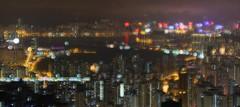 Kowloon Bay w/soft focus (Jen Son) Tags: light night focus soft view bokeh wide longexplosure kowloonbay feingoshan eos40d 1635f28lii