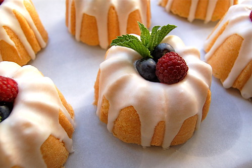 these lemon mini-bundt cakes for a picnic. I hadn't used my mini-bundt ...