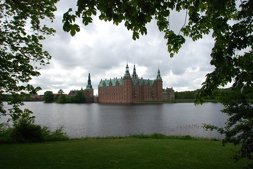 Atmospheric shot of Frederiksborg Slot, Denmark