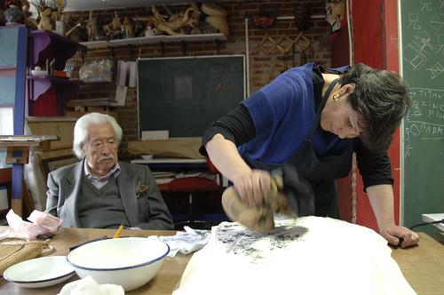 Takuhon - Mtra. Luz García con Mtro. Luis Nishizawa