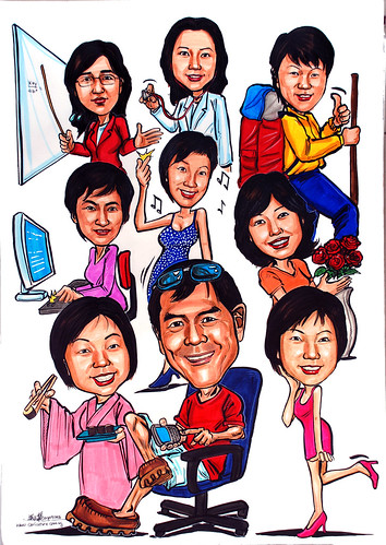 Caricatures for Spencer Stuart (HK) colour