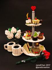 Afternoon tea (2017) (Jared Chan) Tags: iwillbeagoodboy busybee cake valentinesday valentines love mylegocreation jaredchan tea afternoontea sweet food dessert moc lego