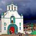 8 San Juan Bautista de Chamula et ciel d'orage