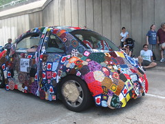 crochet bug (Luthien T) Tags: houston artcarparade