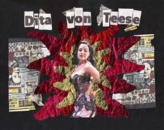 Dita Von Teese #2 (Luis Drayton) Tags: red woman art collage gold model glamour upsidedown lingerie popart montage photomontage mao glam katemoss burlesque pinup ditavonteese adverts foundimages glamourpuss downsideup glamourpussy