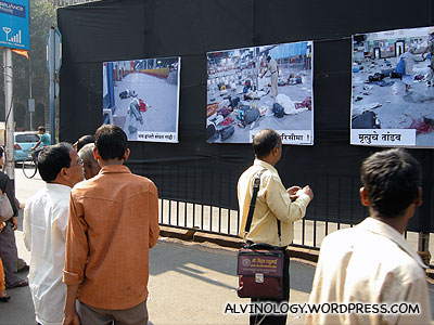 Signs of 26/11 was everywhere that day - seen here are some grisly pictures of the attack