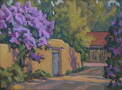 Lilacs and Adobe - 9 x 12""