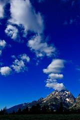 Puff | Grand Teton National Park (Jeff Lewis (LewisDot)) Tags: park travel sky usa mountain nature rock clouds landscape meadow peak grand national cumulus granite yellowstone wyoming teton 1740 xsi bigskycountry canon1740mm canonxsi
