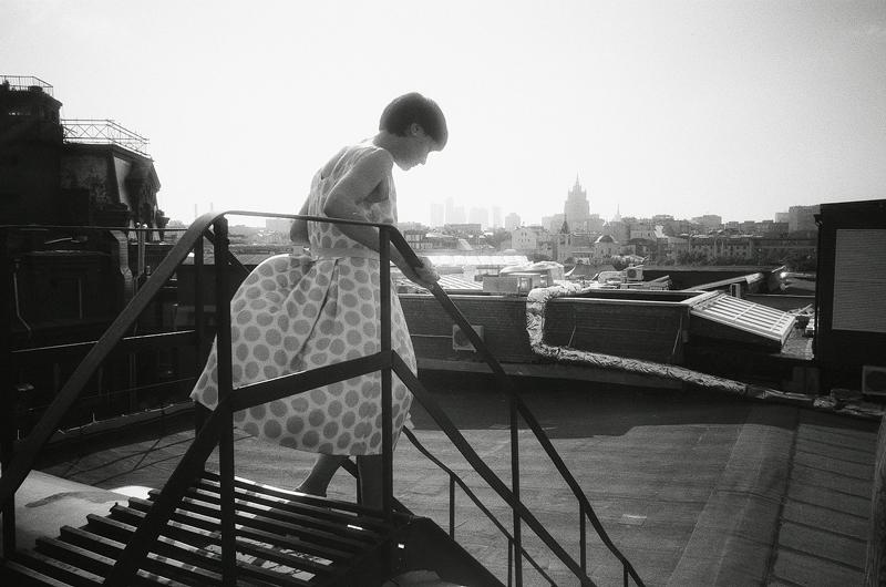 Julia's birthday on the roof