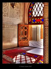 Inside the Mosque (*atrium09) Tags: africa travel light topf25 colors architecture topf50 bravo olympus mosque morocco fez maroc moorish marocco mezquita inside marruecos hdr fes arquitecture themoulinrouge photomatix atrium09 holidaysvacanzeurlaub rubenseabra thegardenofzen