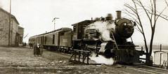 Specht's Ferry, Dubuque County, Iowa (Lost Dutchman) Tags: iowa mississippiriver depot steamlocomotive railroadstation dubuquecounty milwaukeeroad spechtsferry perutownship